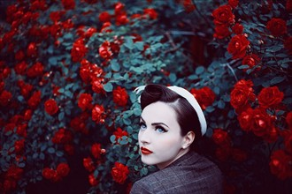 A rose in the roses Vintage Style Photo by Photographer Maja Topcagic