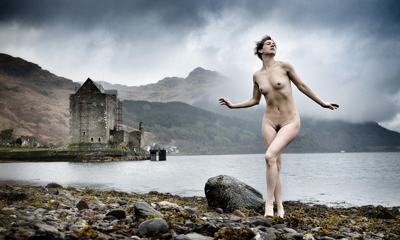 A shower at Castle Carrick Artistic Nude Photo by Model NaturalHappyWoman