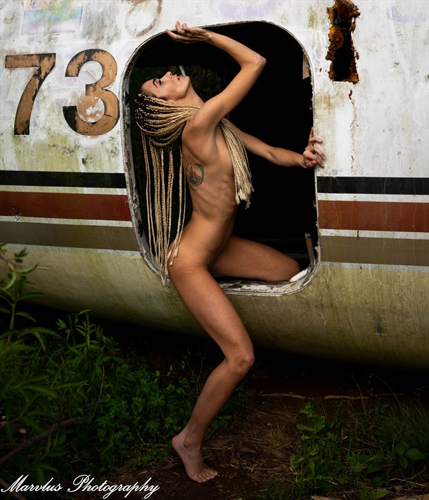 Abandoned Airplane Artistic Nude Photo by Photographer Marvlus