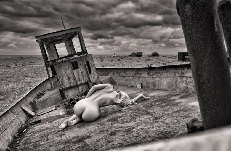 Abandoned Fishing Boat Artistic Nude Photo by Photographer RayRapkerg