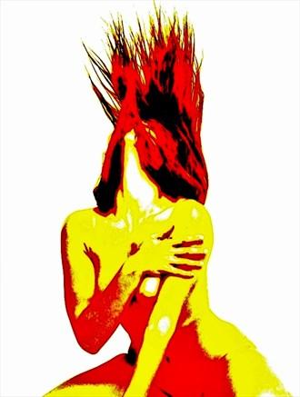 Ablaze Artistic Nude Artwork by Photographer Robert Lee Bernard