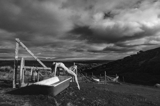 Above the Town, Beneath an Angry Sky  Artistic Nude Photo by Photographer Ceri Vale