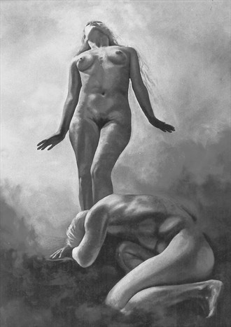 Adam and Eve out of paradise Body Painting Artwork by Artist Manolis Kastrinakis