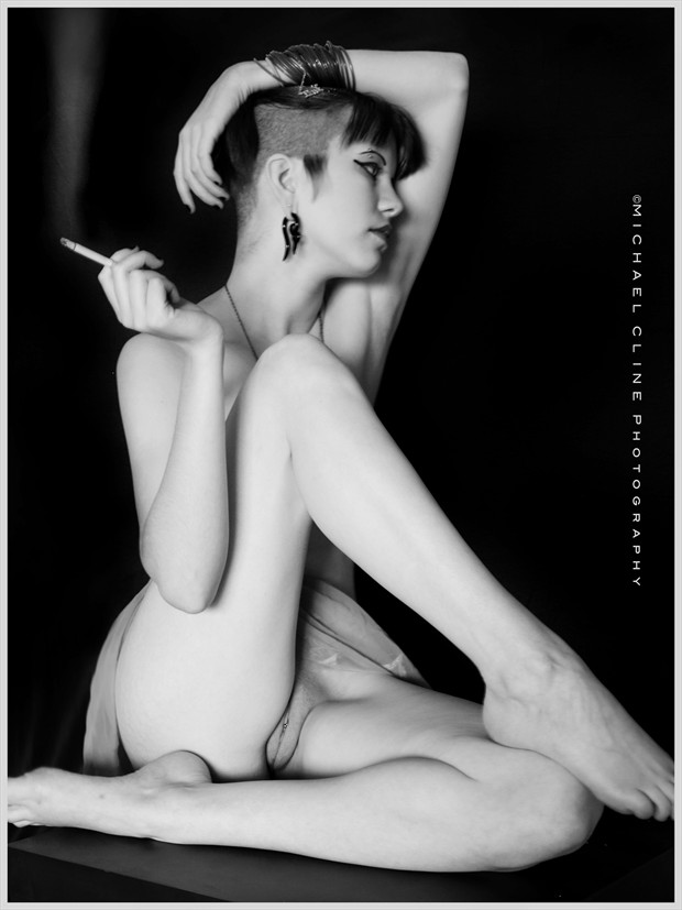 Admiring Her Own Beauty Artistic Nude Photo by Photographer MichaelCPhotography