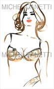 Adriana Artistic Nude Artwork by Artist Michel Canetti