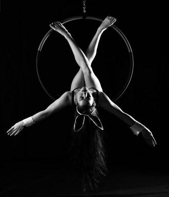 Aerial hoop Silhouette Artwork by Model Soria