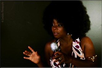 Afro Blue Glamour Artwork by Photographer ZANDOKA