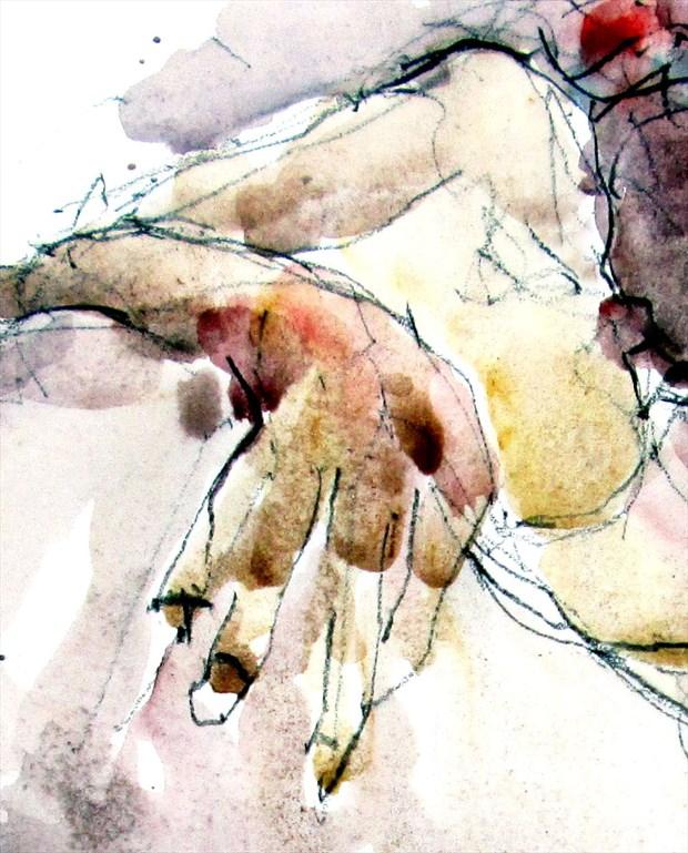 Against all odds continued Figure Study Artwork by Artist Roger Burnett