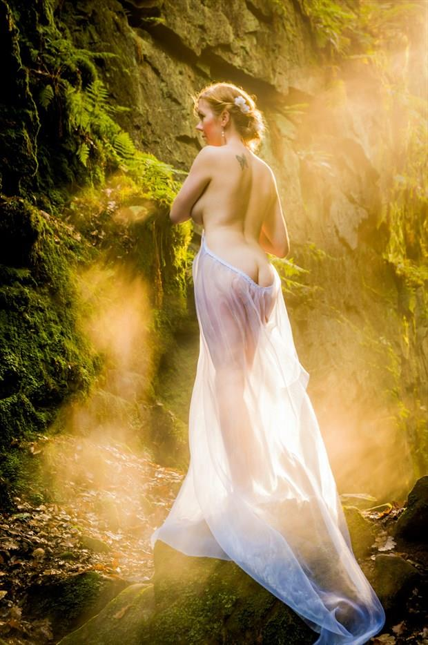Aggie in the Shaft of Light  Artistic Nude Photo by Photographer Ian Cartwright
