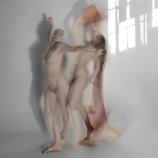 Alex and Ella just Dancing a bit in a Sunlight Room Artistic Nude Photo by Photographer Mark Bigelow