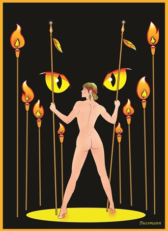 Alone in the Night Artistic Nude Artwork by Artist Jack Bussmann