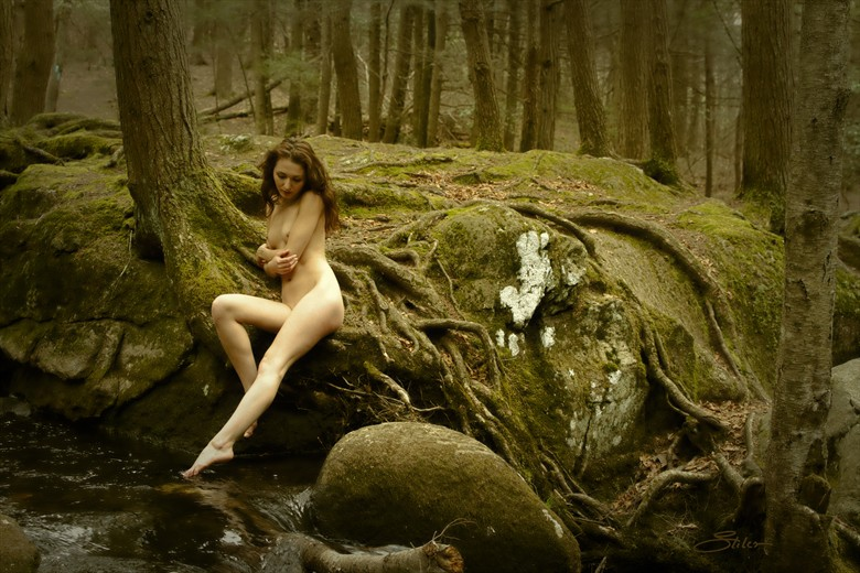 Along The Mad River Artistic Nude Photo by Artist Kevin Stiles