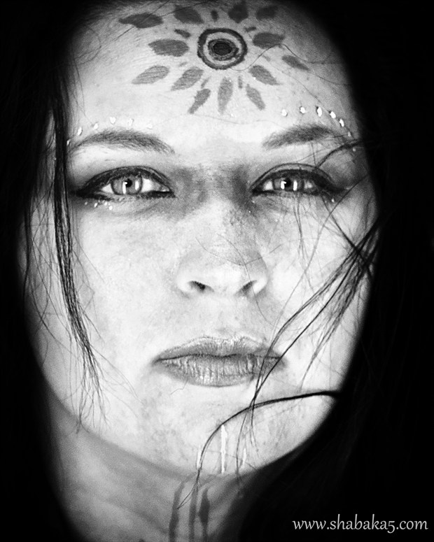Alternative Model Expressive Portrait Artwork by Photographer Shabaka