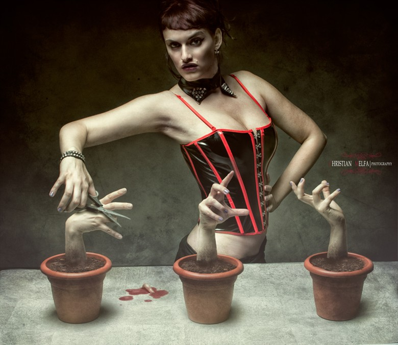 Alternative Model Horror Artwork by Photographer Christian Melfa