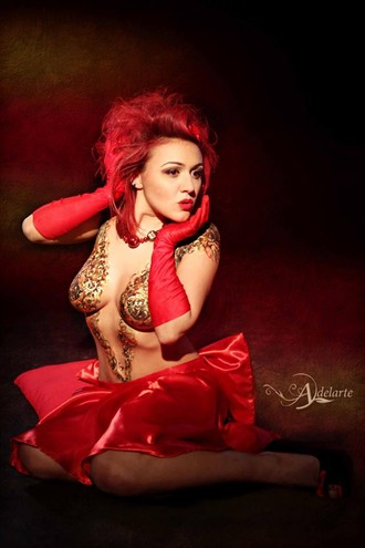 Alternative Pin Up Body Painting Photo by Model LadyQueen