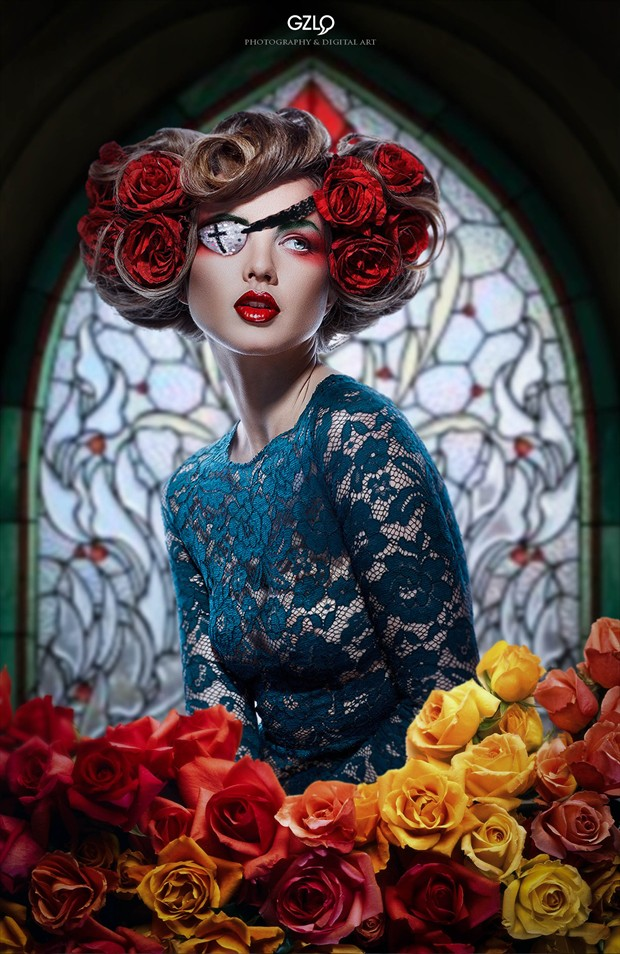 Among Flowers Fashion Artwork by Artist GonZaLo Villar