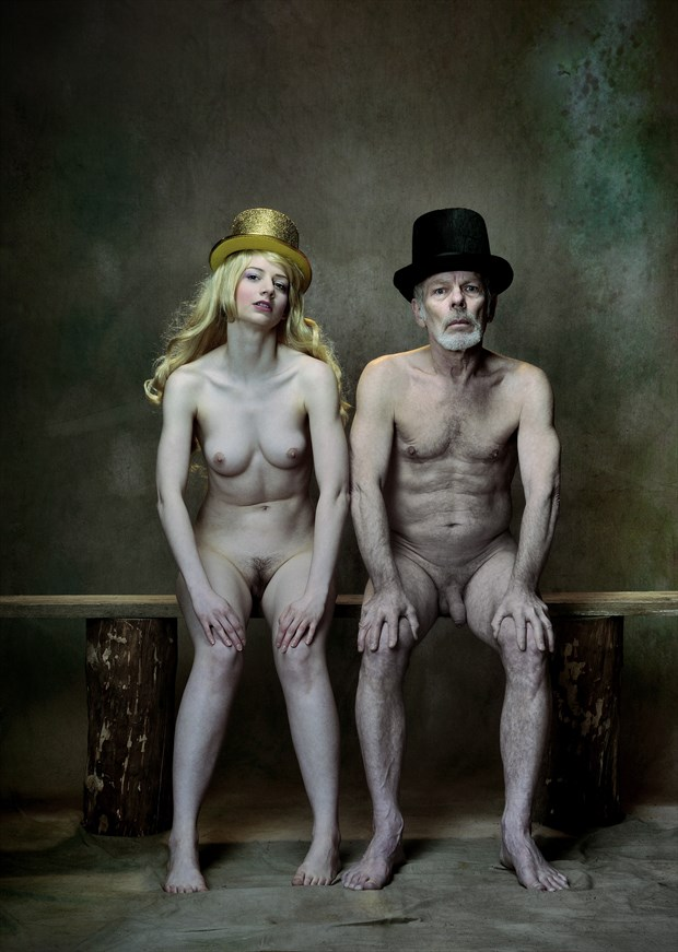 Among the greenery sits the royal pair Artistic Nude Photo by Photographer JERZY  R%C4%98KAS