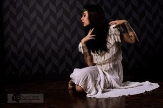 Amy, White Dress Alternative Model Photo by Photographer Conjure Digital