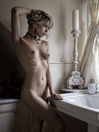 Amy Rose by the Window Artistic Nude Photo by Photographer Les Auld