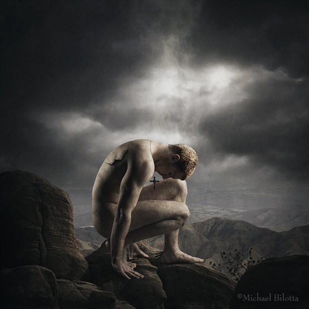 An Angel Stepped Down Artistic Nude Photo by Photographer Michael Bilotta