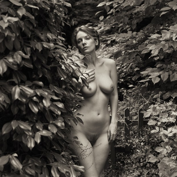 An old fashioned garden Artistic Nude Photo by Model Muse