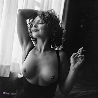 Anastasia Window Smoking Artistic Nude Photo by Photographer BillySheahan