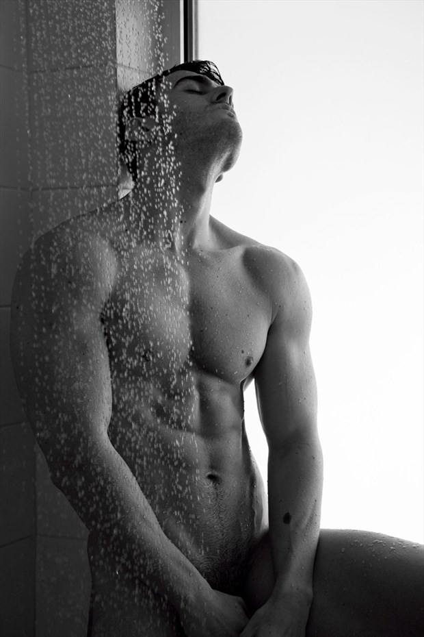 Andreas in the shower Artistic Nude Photo by Photographer Andreas Constantinou
