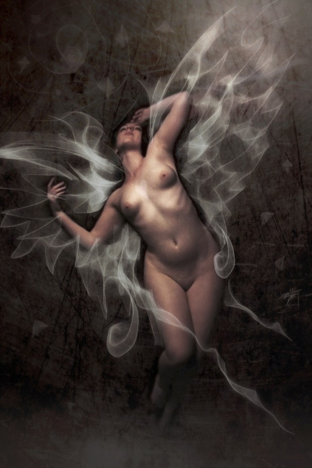 Angel Night Artistic Nude Artwork by Artist David Bollt