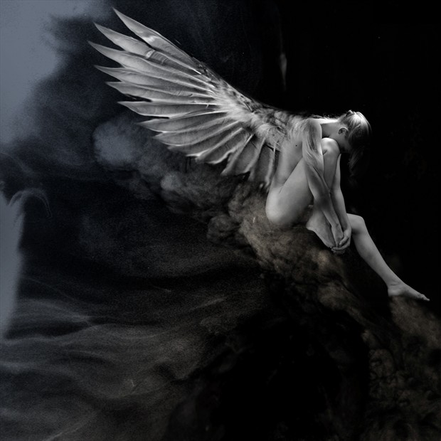 Angel waiting Fantasy Photo by Artist jean jacques andre
