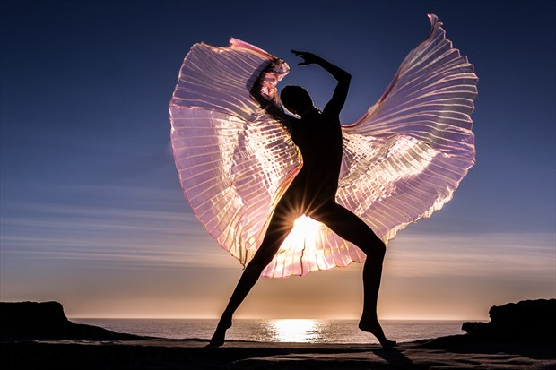 Angelic Pose Artistic Nude Photo by Photographer Stephen Wong