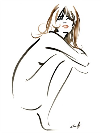 Angelina Artistic Nude Artwork by Artist Michel Canetti