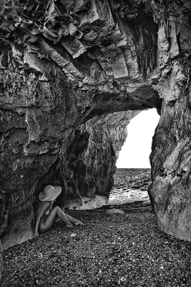 Angelique at the beach cave Nature Photo by Photographer RayRapkerg