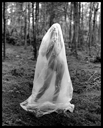 Anna in Plastic Artistic Nude Photo by Photographer Grant Beecher