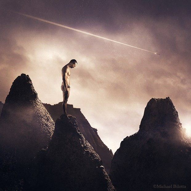 Another Plane Went Down Surreal Artwork by Photographer Michael Bilotta