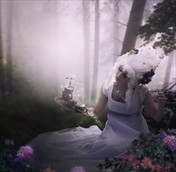 Antoinette in the Forest Fantasy Artwork by Photographer gracefullywicked
