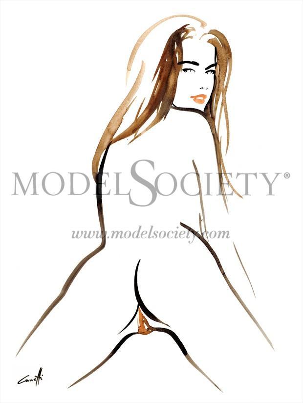 Apolline Artistic Nude Artwork by Artist Michel Canetti