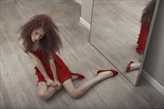 Arianna in red %233 Fashion Photo by Photographer Kla
