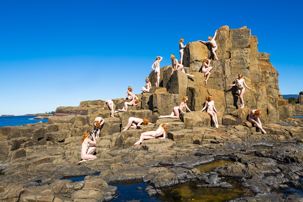 Art Nude Modelling on a Rock Artistic Nude Photo by Photographer Stephen Wong