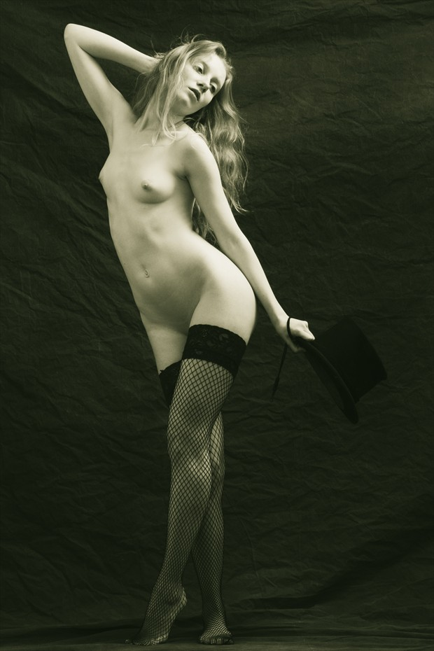 Art Nude with a bit of that Victorian Naughty Artistic Nude Photo by Photographer Mark Bigelow