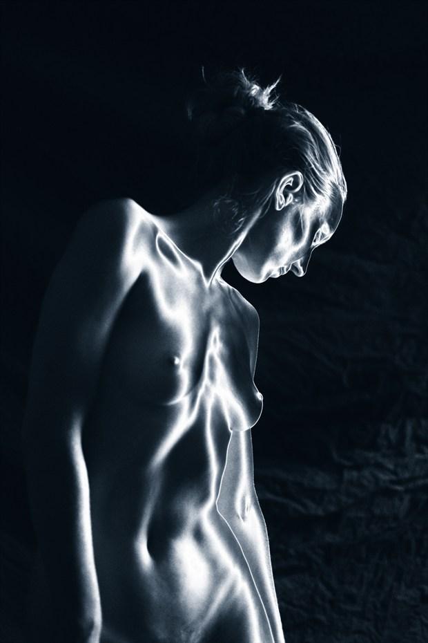 Artist Model Study Solarized Artistic Nude Photo by Photographer Mark Bigelow