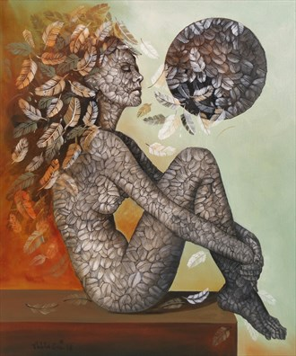 Artistic Nude Abstract Artwork by Artist Ali