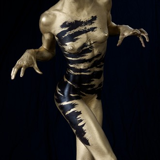 Artistic Nude Abstract Artwork by Model Gazelle