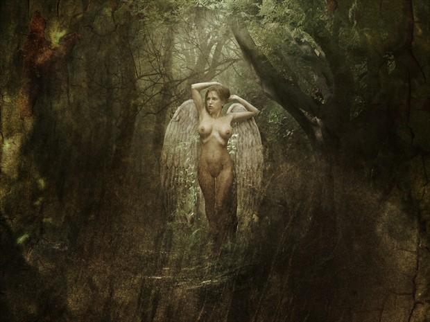 Artistic Nude Abstract Artwork by Model Katz Pajamaz