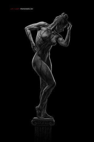 Artistic Nude Body Painting Artwork by Model Michelle Amara
