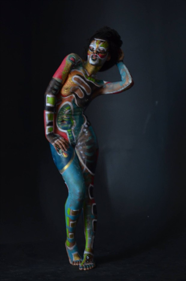 Artistic Nude Body Painting Artwork by Model Tea