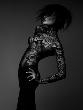Artistic Nude Body Painting Photo by Model Anne