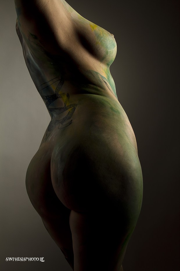 Artistic Nude Body Painting Photo by Model Jennuh Jabberwock