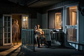 Artistic Nude Chiaroscuro Artwork by Photographer Alec Dawson