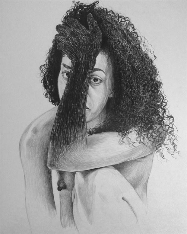 Artistic Nude Close Up Artwork by Model Morgan Rose