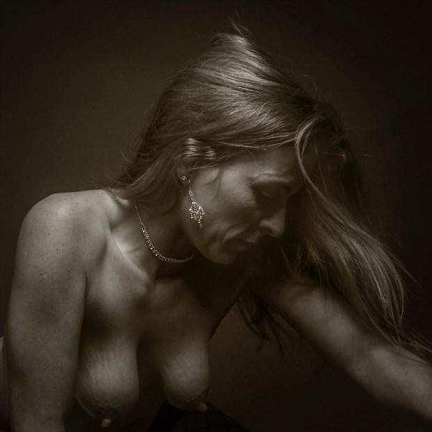 Artistic Nude Expressive Portrait Artwork by Model Hblake